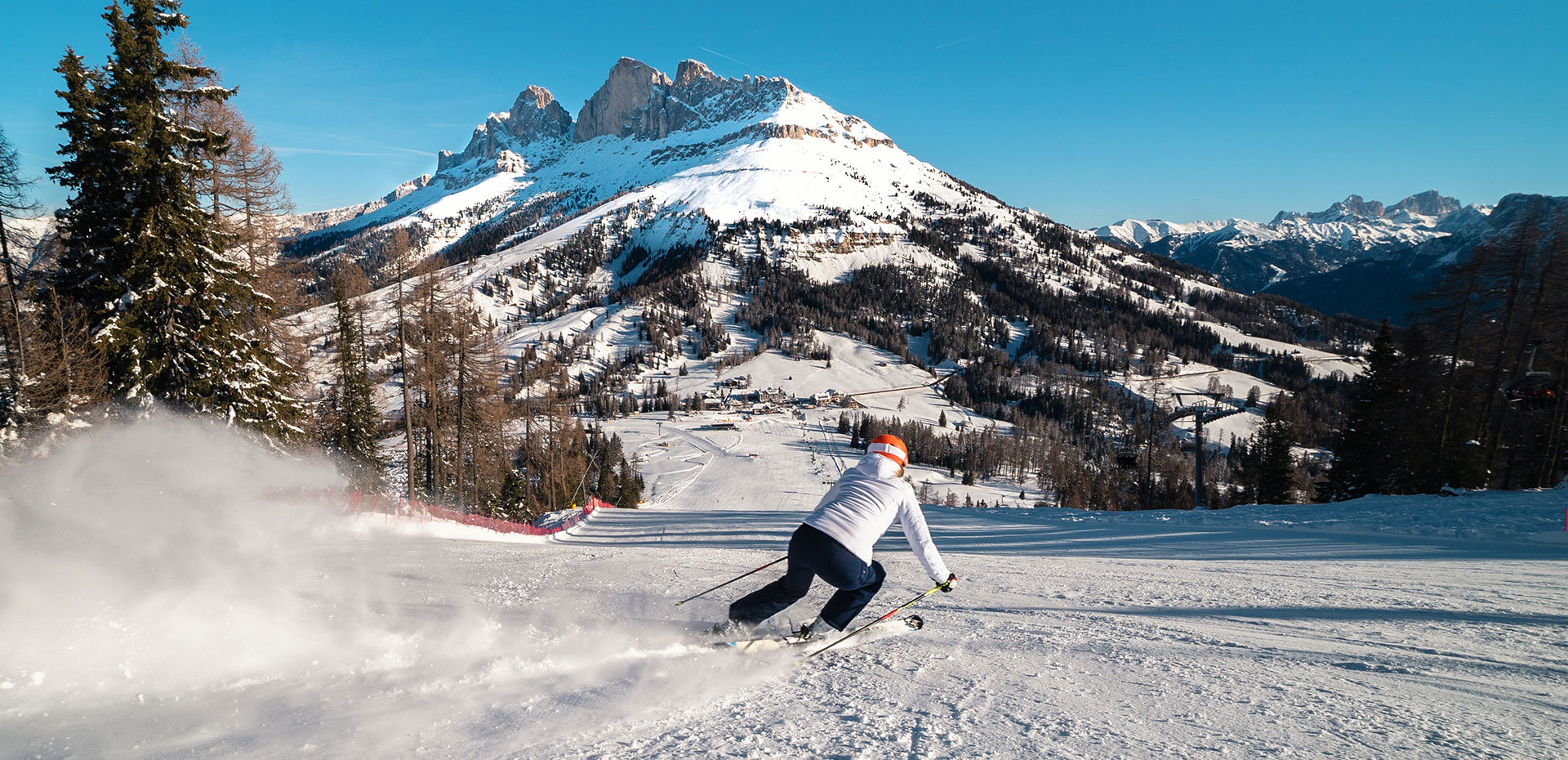 Skiing Carezza