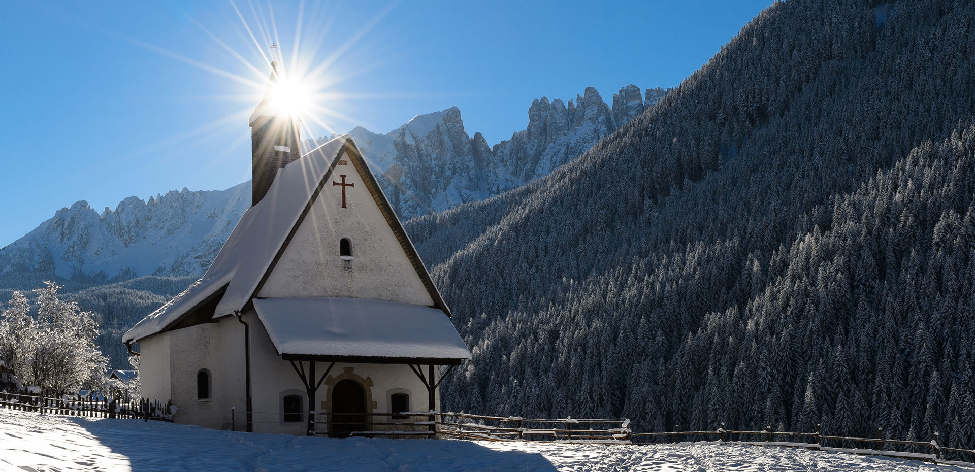 Winter holidays Dolomites